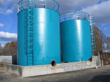 Изготовление резервуаров для воду разных кубатур от 50м3 до 5000м3 цены...